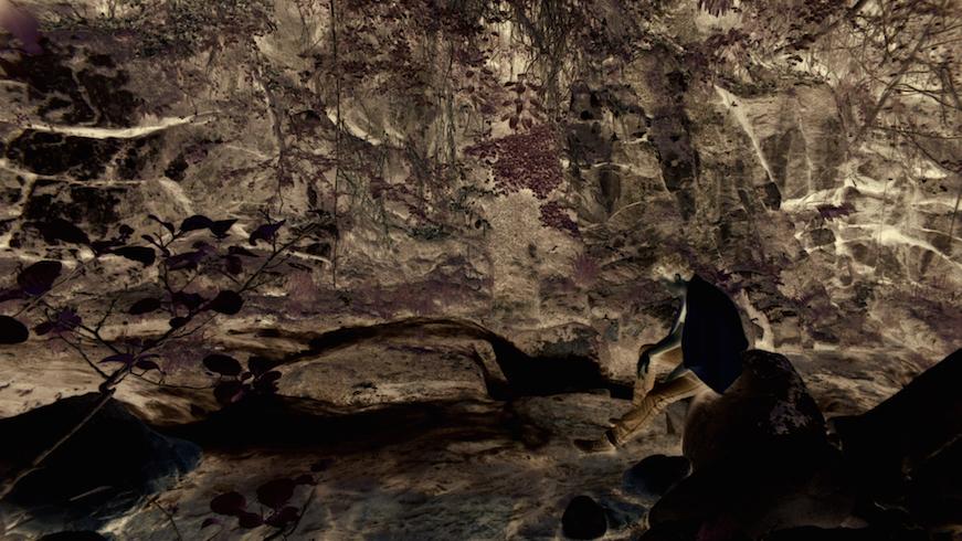 """La cara más abstracta y extrañada del paisaje en """"Noite sem distancia""""."""